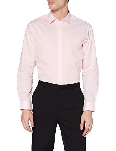 find. Camisa Formal de Corte Estándar Hombre, Blanco (White), Large (Talla del fabricante: Large 16)