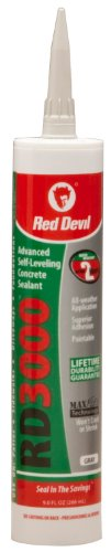 Red Devil 0980 RD 3000 Advanced Self-Leveling Concrete Sealant, Gray, 9.0-Ounce