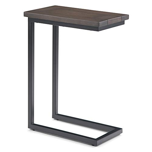Simpli Home Skyler C Side End Tables, Walnut Brown