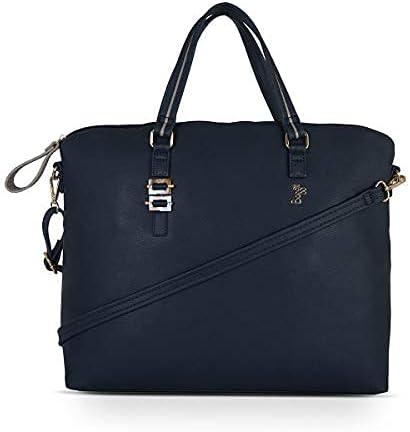 Baggit Spring-Summer Soldering 2021 Faux Leather Tote Handbag Women's Very popular Blu