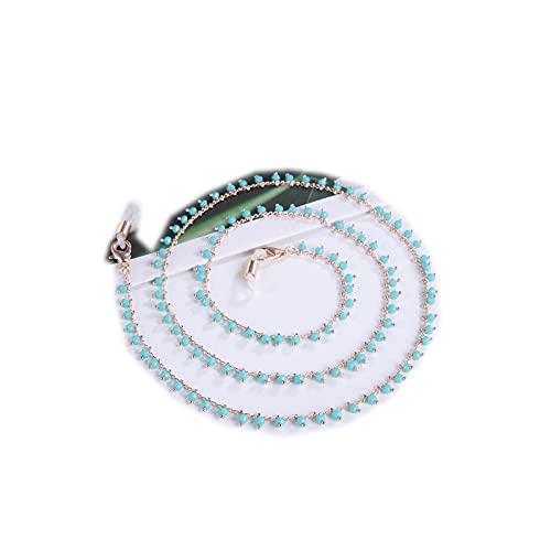 Cordón para gafas, cadena de cristal alrededor de la correa para el cuello para mujer, niña, gafas de sol, correa de regalo