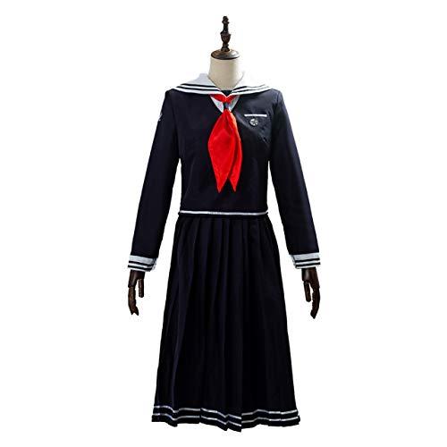 LGYKUMEG Toko Fukawa Cosplay Japons High School Uniform Uniforme Sailor Camisa Anime Danganronpa Touko Fukawa Traje de Cosplay Top + Falda + Pajarita,3XL