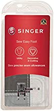 SINGER | Sew Easy Foot, Ruler for Low Shank Sewing Machines, Adjustable Guide, Beautiful Topstitching - Sewing Made Easy