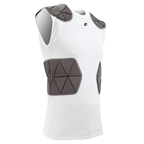 CHAMPRO FJU6 Tri-Flex Compression Shirt CH White Adult Medium