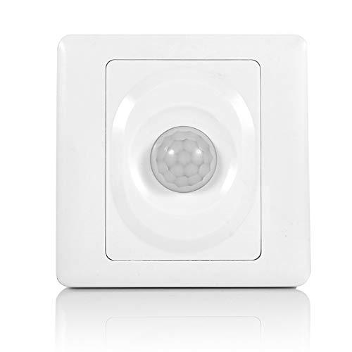 Garosa Sensor De Movimiento Interruptor Ajustable Infrarrojo Montaje En Pared Interruptores Sensor Lámpara De Seguridad para Exteriores Módulo Automático Luz De Control