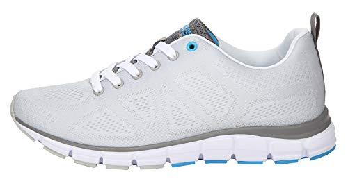 Boras Fashion Sports Unisex Sneaker Basic Ice/biały/niebieski, szary - szary - 53 EU