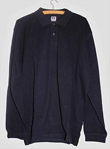 Premium polo-shirt met lange mouwen voor heren, polokraag X-Large