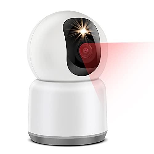Cámara Vigilancia IP WiFi 1440P Full HD 4MP, 2.4/5GHz Dual Banda, Visión Nocturna en Color, 3X Zoom, Detección de Movimiento Humano, Audio Bidireccional, Cámara Vigilancia Bebé