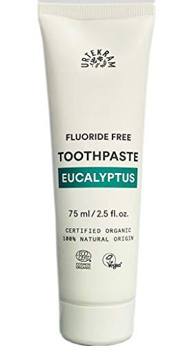 Urtekram Eukalyptus Zahnpasta Bio, ohne Flour, 2er Pack (2 x 75 ml)