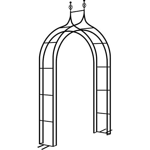 Arco de Jardín Arco de jardín Arrófono de hierro forjado Se utiliza para subir arcade Arcade Rose Vid Support Marco de jardín al aire libre Patio trasero Patio ( Color : Black , Size : 140x40x240CM )