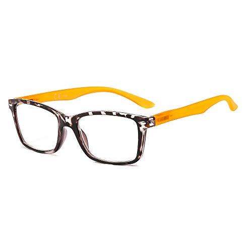 Suertree Lesebrille Brillen Scharnier Lesebrillen Sehhilfe Augenoptik Brille Lesehilfe für Damen Herren 3.0x