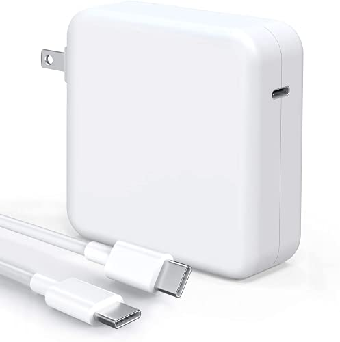 Mac Book Pro Charger - 100W USB C Charger Power Adapter Compatible with MacBook Pro 16, 15, 13 Inch, MacBook Air 13 Inch, iPad Pro 2021/2020/2019/2018, Included 7.2ft USB C to C Cable
