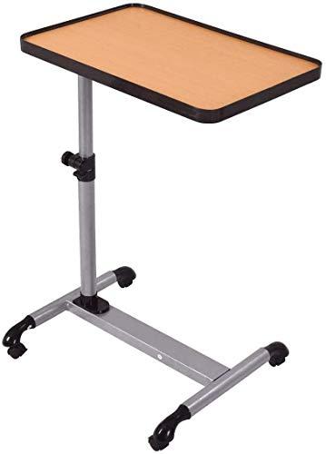DREAMADE Tavolino Porta PC Scrivania per Laptop Tavolino Multifunzione Altezza e inclinazione Regolabile