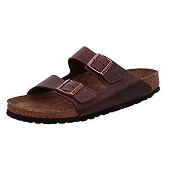 Birkenstock Unisex Arizona Habana Oiled Leather Sandals - 43 N EU/10-10.5 2A N  US Men