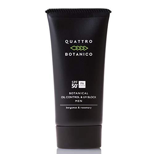 クワトロボタニコ (QUATTRO BOTANICO) ボタニカル オイルコントロール & UVブロック [メンズ 日焼け止め] 男性/UV/スキンケア/ウォータープルーフ/しみ/化粧 (SPF50+/PA++++ 50g)