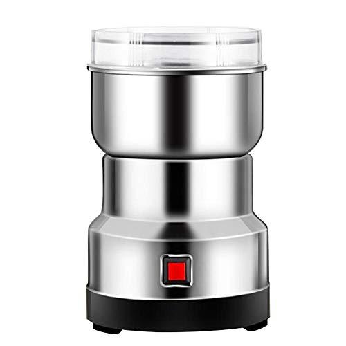 waterfaill Elektrische Getreidemühle, Edelstahl-Getreidemühle, 550-W-Pulver-Maschinen-Gewürz-Kräutermühle, Haushalts-Getreidemühle für Kaffeebohnen-Gewürzsamen
