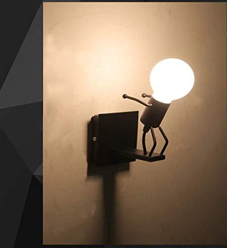 Applique Murale Robot,Créative Little Iron Man Wall Light,Rétro Cartoon Appliques,pour Bar Chambre Cuisine Restaurant Café Couloir