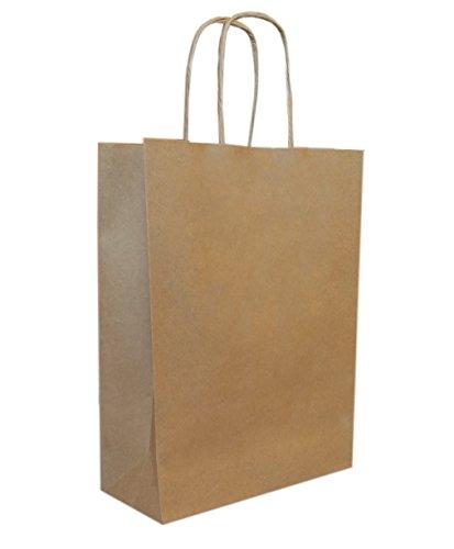 250 Papiertragetaschen mit Kordel - Kordeltragetasche in braun 22+10x28 cm - good4food