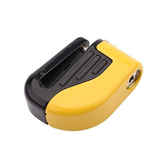 SALUTUYA Alimentado por 6 Piezas de Bloqueo de Frenos de Bicicleta Ag13 Incorporado con Alarma, para Bicicleta(Yellow)