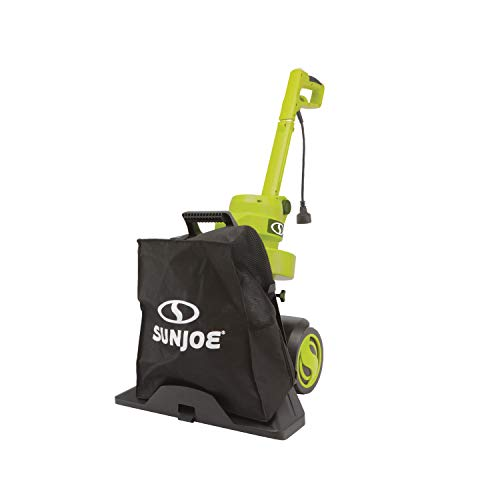 Sun Joe SBJ803E 14-Amp Walk Behind Outdoor Corded-Electric Vacuum Blower + Mulcher, Green