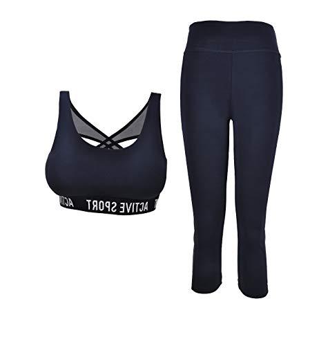 PF Conjunto de ropa deportiva para mujer Conjunto de gimnasio de 2...