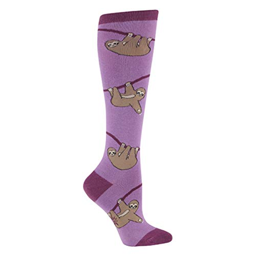 Sock It To Me, Sloth, Women's Funky Knee-High Socks, Sloth Socks