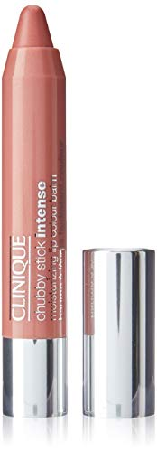 Clinique Chubby Stick Bálsamo hidratante intenso para labios, 0.1 onzas, No. 01 Curviest Caramel, 3 g