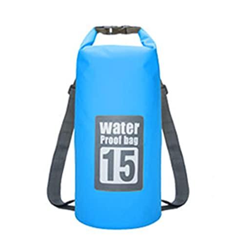 ZWRY Borsa Palestra 5L/10L/15L/20L/30L Borse Impermeabili Dry Bag PVC Zaino Impermeabile Borsa Sportiva Rafting Zaini da Nuoto Impermeabile Dry Bag 15L Blu