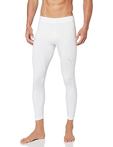 PUMA Liga Baselayer Long Tight Pants, Hombre, White, M