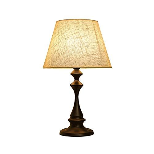 Lámparas de escritorio Lámpara empotrada de mesa Lámpara decorativa Lámpara de lino Lámpara Lámpara moderna Lámparas de cama Lámparas de cama Frosted 110V ~ 240V negro 14 pulgadas de alto
