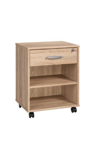 MAJA-Möbel 4025 5525 Rollcontainer, Sonoma-Eiche-Nachbildung, Abmessungen BxHxT: 45,6 x 59,1 x 36 cm