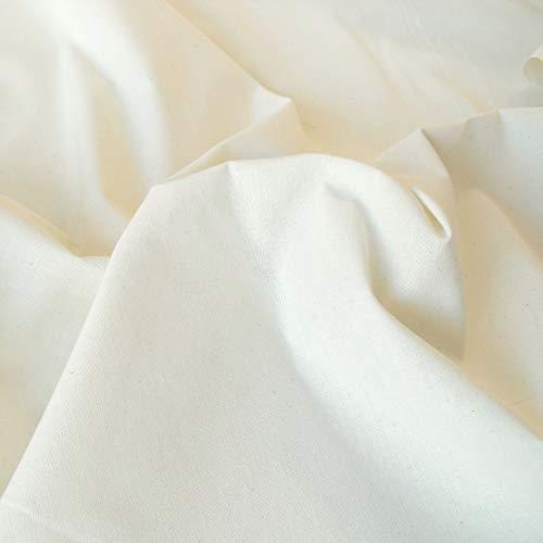 TOLKO Baumwollstoffe Meterware Nessel ROH-Baumwolle naturfarben als Dekostoff Breite: (130 cm   leicht)