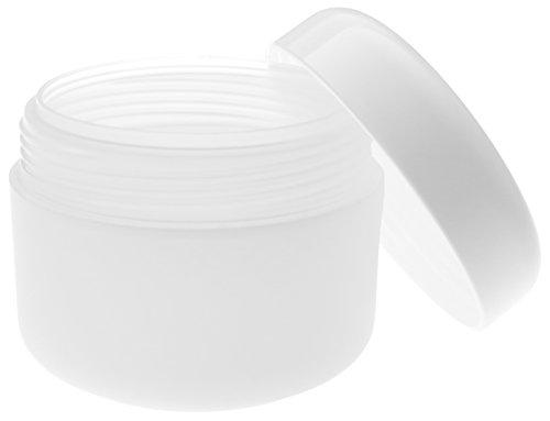 30 ml PP Tiegel, doppelwandig, halbtransparent, mit Plastikdeckel weiß. 10 Stück