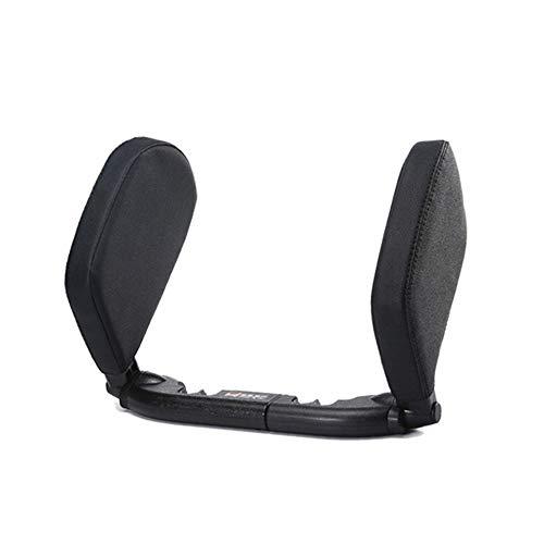 Yhjkvl Almohada para el cuello del coche, almohada de cuello de alta calidad, soporte para el cuello para asiento de coche, de piel illow para apoyo de cabeza, almohada de viaje (color: negro2)