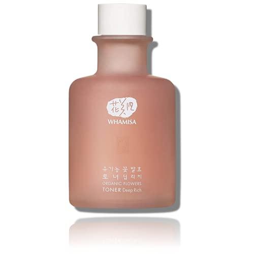 WHAMISA Organic Flowers Toner Deep Rich - Korean Skin Care Une hydratation supplémentaire et une meilleure texture de la peau - - Tonique facial ferme