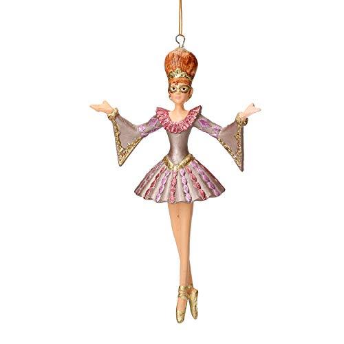 Harlekin Figur zum Aufhängen oder Hinstellen, lila - Dekoration