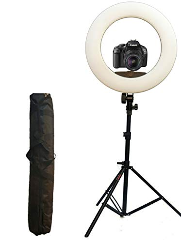 OCTOVA Ring Light 18 inch with Stand; 96W (Extra Bright) 3200k - 5500K Dimmable LED Kit AC Powered, for Camera; Smartphone;YouTube;Self Portrait Shooting; Tiktok; Musically; Makeup Professionals