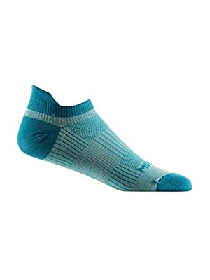 WrightSock CoolMesh II Lightweight Double Layer Tab Socks, Seamist/Turquoise, Large