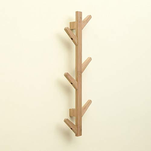 Hohe Qualität Holz und Bambus-Personality Einfache Wandgarderobe, Wohnzimmer Schlafzimmer Büro Eingang Korridor Vertikal Baum AST Hanger (Color : Wood Color, Size : 6 Hooks)