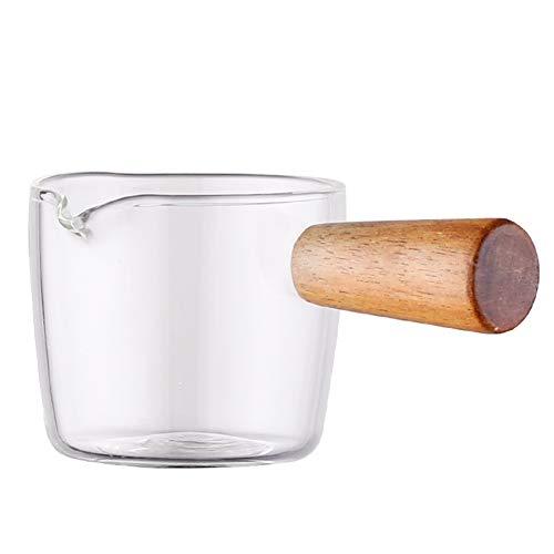 Milchpfanne Kleine Milchkanne Tee Kaffee Ei Kochtopf Glas Holzgriff Babynahrungsergänzungstopf Easy Clean Glas Suppentopf