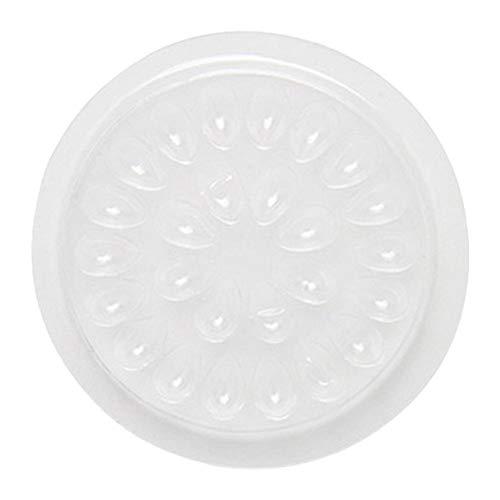 Bloc De Palette De Colle en Plastique Jetable 100 PCS pour Extensions De Cils Transparent en Forme De Cils Joint De Base De Support De Pigment Adhésif pour Nail Art Ou Encre De Tatouage