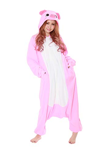 SAZAC Fleece Pyjama Kigurumi - Schwein
