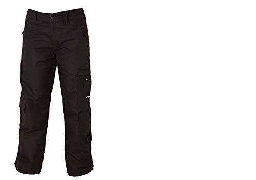 ARCTIX Damen Snowboardhose Mountain Premium Mesh gefüttert, Damen, Ski-Hosen, Women's Mesh Lined Snowboard Cargo Pants, schwarz, Small (4-6) Regular