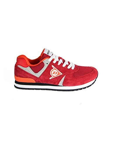 DUNLOP Schuhe O2 rot aus Wildleder und Mesh (Gitter), wasserabweisend, stoßfest, keine Einlegesohle, perforiert, EN ISO 20347: 2012 - DL0203008, Rot - Rot und Grau - Größe: 46 EU