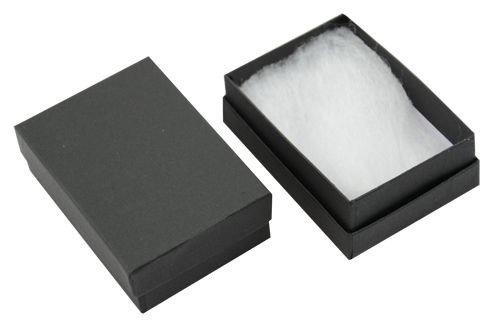 Matt zwarte kaart oorbel hanger broche badge medaille sieraden doos presenteren sleutel presentatie geschenkdozen (82x58x26mm) Zwart