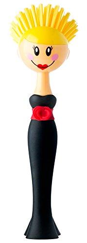 VIGAR Dolls Kylie Cepillo Lavaplatos, Negro 7,5x7,5x24,5 cm