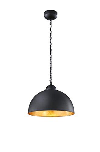 Trio Leuchten LED-Pendel Romino, schwarz matt, innen goldfarbig 376510302