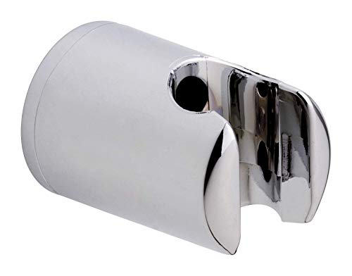 tesa SPAA Duschkopfhalterung, verchromt, garantiert rostfrei, Wandmontage ohne Bohren, inkl. Klebelösung, 40mm x 40mm x 58mm