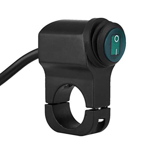 Interruptor de manillar de motocicleta 12V Universal 22mm 7/8 pulgadas Interruptor de botón de manillar ATV Faro de motocicleta Punto de niebla Interruptor de encendido/apagado de luz LED impermeabl