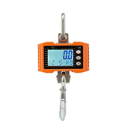 Hyindoor Báscula Gancho Industrial 500 kg Báscula Digital con Gancho Resistente Peso Dinamometro Portátil